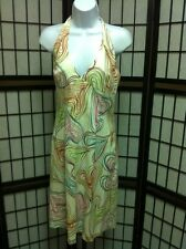 MILLY OF NEW YORK  Multi Colored Abstract Halter Dress Sz: 6