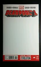 DEADPOOL # 1 2012 MARVEL BLANK SKETCH COVER VARIANT EDITION 001 COMIC BOOK NM