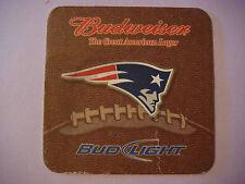 Beer Coaster Mat  ^  BUDWEISER ~ NEW ENGLAND Patriots 2009 NFL Football Schedule