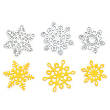 3 Pcs Snowflake Memory Box Cutting Dies DIY Scrapbooking Christmas Cards Decor