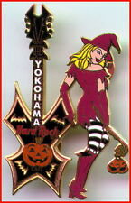 Hard Rock Cafe YOKOHAMA 2002 HALLOWEEN PIN Sexy WITCH Girl w/Guitar - HRC #14847