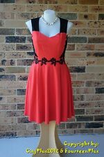 City Chic Dress - Size XS (14) - SUMMER SPLICE DRESS - New without tags