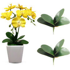 1 Bouquet Green Artifical PU Butterfly Orchid Leaf Bush Flowers Plant Home Decor