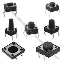 2-100pcs 4.3-12mm SPST Small Mini Micro  Momentary Tactile Push Button Switch