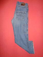 Designer AJ Armani P05 Button-Fly - Mens Blue Denim Jeans - Waist 33 Leg 34 K379
