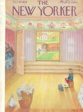 1959 Edna Eicke ART COVER ONLY - Little Girl Watching Moving Truck from Room