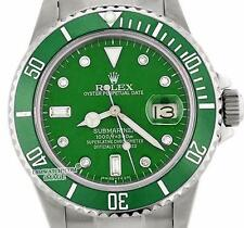 Rolex Submariner Sport Watch Green Hulk 16610 40mm Stainless Steel & Diamond