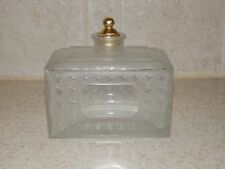 "CHRISTIAN DIOR GLASS COLOGNE BOTTLE FRANCE LALIQUE 3"" X 3 1/4"""
