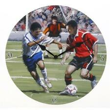 Decorative Wall Clock Football Themed Gift Boxed Boy Dad Uncle Brother Grandad