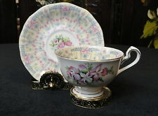 Vintage QUEENE ANNE England FINE Bone China ROYAL BRIDAL GOWN TEA CUP & SAUCER