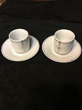 Pair Of Collectible AMERICAN  AIRLINES ESPRESSO CUP &  SAUCER  Mint Coffee Tea