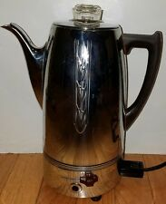 Vintage UNIVERSAL Landers Frary ELECTRIC COFFEE POT Percolator Urn Chrome WORKS