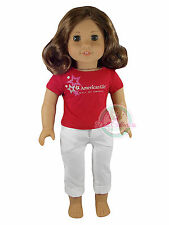 American Girl MY AG SET  FOIL STAR TEE MN MALL OF AMERICA & STAR CARGO PANTS