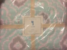 1 Pottery Barn Kids Claire Ikat Twin Quilt Aqua Girl NWT New