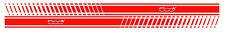 Par 500x Fiat Rayas laterales detalle de la etiqueta del vinilo sidestripes Gráfico Elección del Color