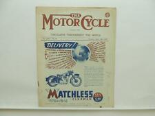 March 1946 THE MOTORCYCLE Magazine Matchless Clubman G3L G80 500 350 L8498