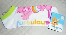 Ladies Teen Girl Socks 9-11 CARE BEAR Rainbow furbulous CAREBEAR Heart NWT