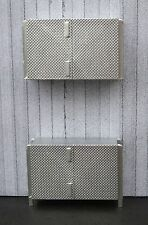 Stainless Shop Cabinets (2) Miniatures DBL DR Base Unit w Top 1/24 Scale Diorama