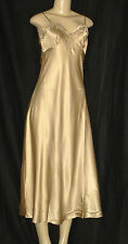 NEWPORT NEWS -  NIGHT GOWN SLEEPWEAR color BEIGE/ GOLD size 4 NWT
