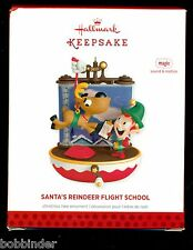 HALLMARK SANTA'S REINDEER FLIGHT SCHOOL MAGIC CHRISTMAS ORNAMENT 2013 NIB