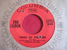 GARAGE SOUL NM 45 - THE FLOCK - TIRED OF WAITING / STORE BOUGHT - COLUMBIA 45021