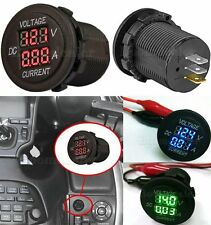 Digital Voltmeter Ammeter Voltage Meter Car Motorcycle LED Dual DC12-24V BD