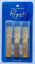 Rico Royal Tenor Saxophone Reeds #3.0 (3-Pack) NEW rkb0330