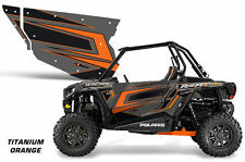 AMR Racing UTV Door Graphics Wrap for Polaris RZR 1000 UTV Inc Doors (2) ORANGE