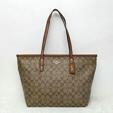 BagToBrag: SALE! Coach Signature City Top Zip Tote Bag in Brown/Khaki/Beige