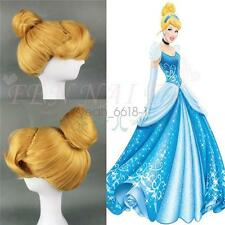 Cinderella Disney hair-coils form yellow Blonde Cosplay Wig women's holiday wigs