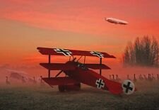 Fokker DR 1 Red Baron Triplane through Daybreak Mist