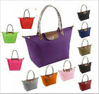 Hot Synthetic Leather Handle Tote Shopping Bag Nylon WaterProof Colorful Handbag