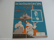 An Old Italian Love Song 1929 sheet music by Harrison, Hirsch, Sosnik, Keithley