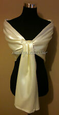 Ivory/cream Satin Large Shawl NEW WITH DEFECTS/Scarf/Wrap/Stole/Bolero/Pashmina