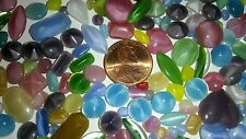 VTG GLASS ASSORTED MOONSTONES OPAQUE RHINESTONES MARQUISE JEWELRY REPAIR CRAFTS