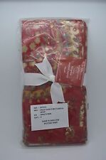 Pottery Barn Chalet Paisley Napkins Red S/ 4 #34