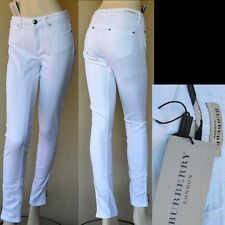 BURBERRY LONDON New sz 29 Designer Authentic Ankle Zip Womens White Pants Jeans