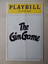 1978 - John Golden Theatre Playbill - The Gin Game - Tandy - E.G. Marshall