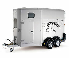 Horse Head Car Trailer Box Bonnet Truck Sticker Decals Large LSH15