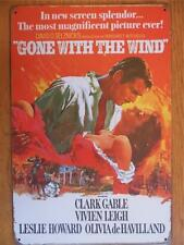 QUALITY VINTAGE STYLE METAL WALL PLAQUE MOVIE POSTER SIGN *GONE WITH THE WIND*