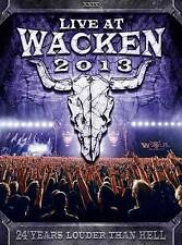 Live at Wacken 2013 Concert DVD, 2014, 3-Disc Set Alice Cooper, Anthrax & More!