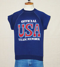 VTG 70's OFFICIAL USA OLYMPICS TEAM MEMBER Unisex Small Soft Cut Off SWEATSHIRT