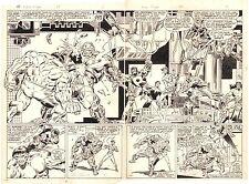 Alpha Flight #29 p2&3 - Hulk vs Alpha Flight Action DPS 1985 art by Mike Mignola