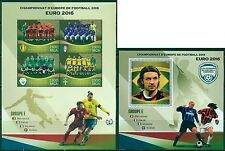 Football Soccer EURO 2016 Belgium Italy Ireland Sweden MNH stamp set 4val + ss