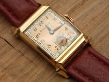 Vintage Bulova 1941 DIRECTOR 14K Rose Gold RGP gents art deco watch 17 jewel 8AE