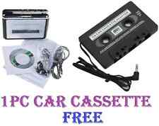 USB 2.0 Cassette Tape Deck to MP3 Handheld Digital Audio Converter With Earbuds