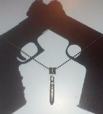 Mens Ball Chain Bullet Pendant Necklace VALENTINES DAY GIFT