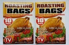 2 PACKS 10 X LARGE ROASTING BAGS MIRCOWAVE OVEN POULTRY CHICKEN MEAT FISH TURKEY
