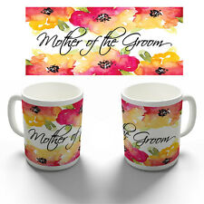 MOTHER OF THE GROOM COLOUR FLORAL COFFEE MUG TEA CUP PERSONALISED WEDDING GIFT