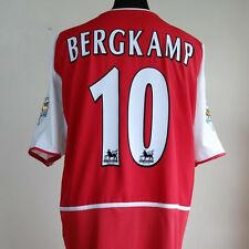 Arsenal Home Football Shirt Adult XL BERGKAMP #10 2002/2004
